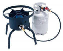 Camp Chef SHP-RL High Pressure Single Burner Cooker with Detachable legs and Round top, Black