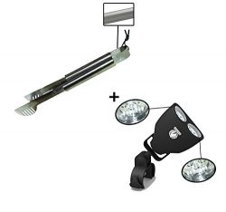 Grill Tong + Barbecue Light – LUXURIOUS GIFT BOX – Upgraded Handle Mount Fits Round  ...