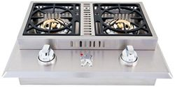 Lion Premium Grills L1634 Natural Gas Double Side Burner, 26-3/4 by 20-1/2-Inch