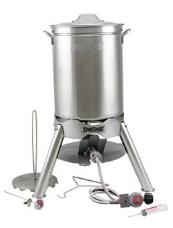 "Turkey Deep Fryer Oversized 44 Quart Stainless Steel ""GRAND GOBBLER"" Kit By Bayou Cl ..."