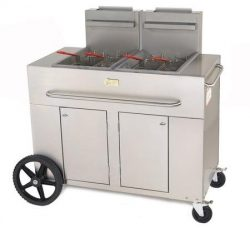 Crown Verity CV-PF-2-LP 53″ Double Tank Outdoor Portable Fryer with 180 000 BTU/H 80 lbs.  ...