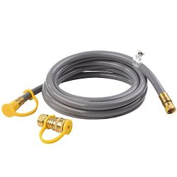 GASPRO 12FT Natural Gas and Propane Gas Hose Assembly for Low Pressure Appliance- 3/8inch Female ...