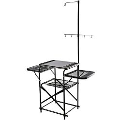 Magicook Folding Table, Portable Camp Kitchen, Fold-up Outdoor Kitchen with Hooks Design for Gri ...