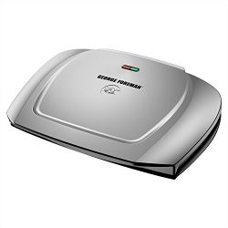 George Foreman 9-Serving Basic Plate Electric Grill and Panini Press, 144-Square-Inch, Platinum, ...
