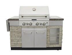 KitchenAid 860-0012 4 Burner Propane Gas Grill, Stainless