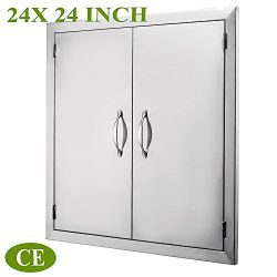 Mophorn Double Wall BBQ Access Door 24″Width x 24″ Height BBQ Island Door w/ Brushed ...