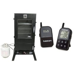 Masterbuilt 20050614 Propane Smoker, 44-Inch, Black with Cuisinart Thermometer