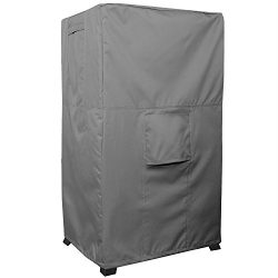 Smoker Cover – TITAN Series – Waterproof Heavy Duty Square Smoker Protector – Grey