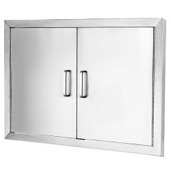 Happybuy BBQ Access Door Double Wall Construction Cutout 31W x 24H In. BBQ Island/Outdoor Kitche ...