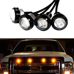 iJDMTOY 4pc Ford Raptor Style 3000K Amber LED Lighting Kit For Chevy Dodge Ford GMC Truck or SUV ...