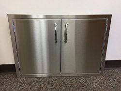 All Stainless Steel 30″ Double Access BBQ Door with Liner