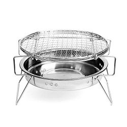 Portable Charcoal Grill – BonNoces BBQ Griller on Clearance Thickened Stainless Steel Fold ...