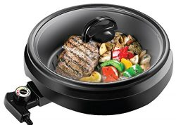 CHEFMAN 3-IN-1 Versatile Indoor Grill Pot & Skillet – Slow Cook, Steam, Simmer, Stir F ...