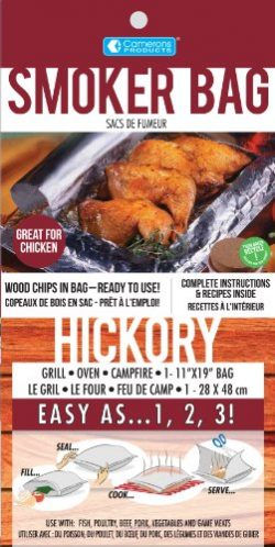 Hickory Smoker Bag- Smoking Bag for Indoor or Outdoor Use- Easily Infuse Natural Wood Flavor
