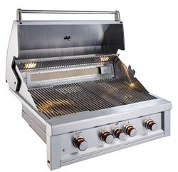 SUNSTONE RUBY4B-IR-LP 4 Burner Pro-Sear with IR Propane, 36″