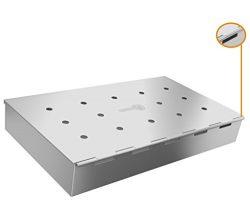 Smoker Box Maximum Wood Chip Capacity – 25% THICKER STAINLESS STEEL WON'T WARP &#821 ...
