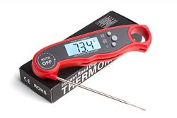 ConCase Digital Meat Probe Thermometer Quick Instant Read Foldable Gauge Cooking Tool for BBQ Gr ...