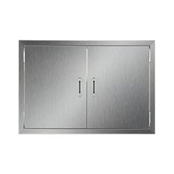 CO-Z Stainless Steel BBQ Access Door, 30.5″ x 21″ 304 SS Double Doors for Commercial ...