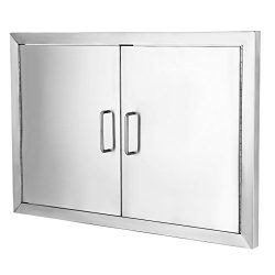 FoodKing Double Access BBQ Door 19″Hx28″W Double BBQ Island 304 Stainless Doors Doub ...