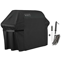 Homitt 7107 Grill Cover Kit, 44in X 60in Heavy Duty Waterproof PVC Facing BBQ Gas Grill Cover wi ...