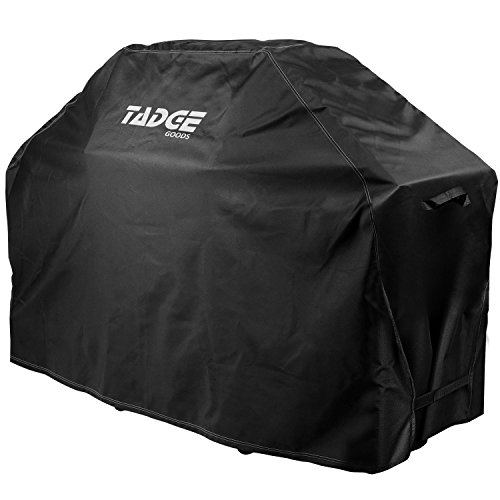 """Tadge Goods BBQ Grill Cover w/ Handles (58"""" Black) Waterproof, Weather Resistant, Heavy Duty 