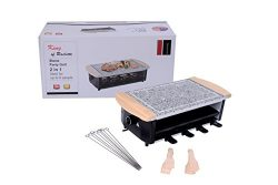 Raclette Party BBQ Grill with Granite stone Temperature Control Electric Nonstick BBQ Indoor / O ...