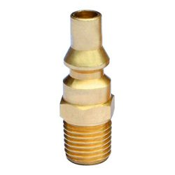 Stanbroil Propane Brass Quick Connect Fitting Adapter- Full Flow Male Plug x 1/4″ Male NPT ...