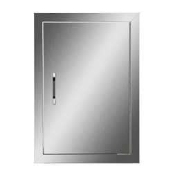 CO-Z 304 Stainless Access Door 14″W x 20″H BBQ Island Door Vertical Single Door Flus ...