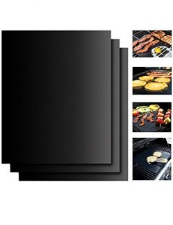 Spritech Grill Mat – Set of 3 Non Stick BBQ Grill Mats – Heavy Duty, Reusable, and E ...