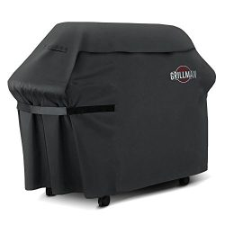 Grillman Premium (58 Inch) BBQ Grill Cover, Heavy-Duty Gas Grill Cover For Weber, Brinkmann, Cha ...
