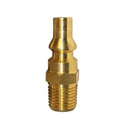 DozyAnt Propane Brass Quick Connect Fitting Adapter- Full Flow Male Plug x 1/4″ Male NPT f ...