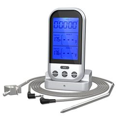 Digital Meat Thermometer,Valoin Wireless Remote Instant Read Food Thermometer with Stainless Ste ...