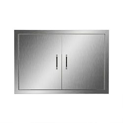 CO-Z Stainless Steel BBQ Access Door, 19″ x 28″ 304 SS Double Access Doors for Comme ...