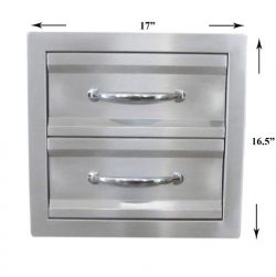 SUNSTONE C-DD14 17-Inch Premium Double Access Drawer