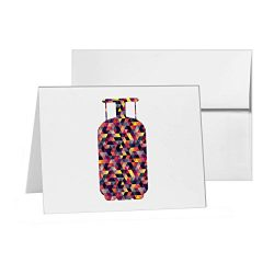 Propane Tank Cylinder Gas Grill, Blank Card Invitation Pack, 15 cards at 4×6, Blank with Wh ...