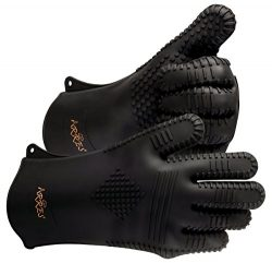 Arres XL BBQ Grilling Gloves – Heat Resistant Silicone Extra Large Cooking Gloves –  ...