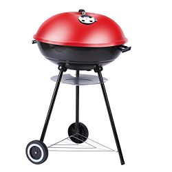 Outon Portable Grill Charcoal Grill Outdoor/Home BBQ 22 inch Red