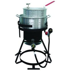 Rankam Group TF2048902-KK Natural Organic Aluminum Fish Fryer, 10 quart