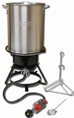King Kooker 1229 Propane Outdoor Cooker 12″ With 29-qt Aluminum Pot & Basket