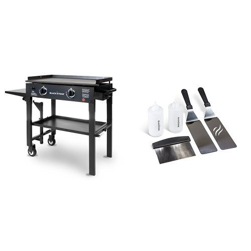Blackstone 28 inch Outdoor Flat Top Gas Grill Griddle Station – 2-burner – Propane F ...