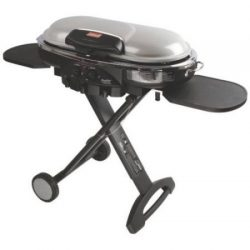 Coleman RoadTrip LXE Portable 2-Burner Propane Grill – 20,000 BTU, Silver Color