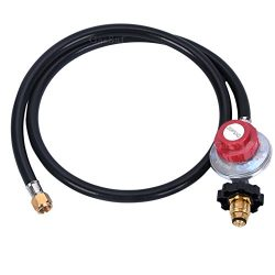 GASSAF 4FT High Pressure Propane Regulator POL Grill Connector with CSA Certified Hose for Propa ...