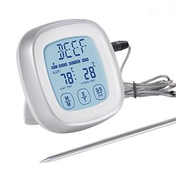 Adoric Digital Food Thermometer Instant Read Meat Thermometer with Touchscreen & Timer Mode  ...