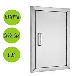 Mophorn Double Wall BBQ Access Door Cutout 20″Height x 14″Width BBQ Island Door w/ B ...