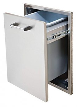 Delta Heat DHTD18T-B 18″ Wide Stainless Steel Built-In Tall Trash Drawer with Included Trash
