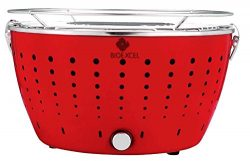 Bioexcel Indoor Smokeless Grill – Portable Battery Operated Smokeless Electric Charcoal BB ...