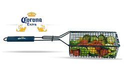 Corona Nonstick BBQ Grilling Basket With Locking Grill Basket Latch And Handle – For Veggi ...