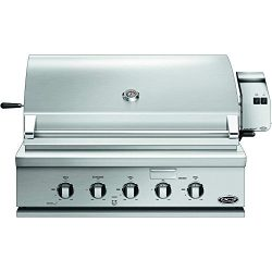 DCS BH1-36R-N 36″ Traditional Built-In Natural Gas Grill with 3 Stainless Steel Burners Ro ...