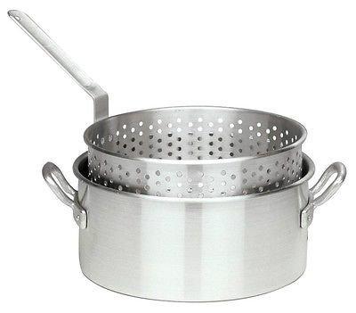Bayou Classic 1201 Aluminum 10 Quart 12″ Outdoor Deep Fryer Pot w/ Basket