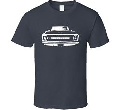 1969 C10 Apache Pickup Truck Grill View Charcoal T Shirt L Charcoal Grey